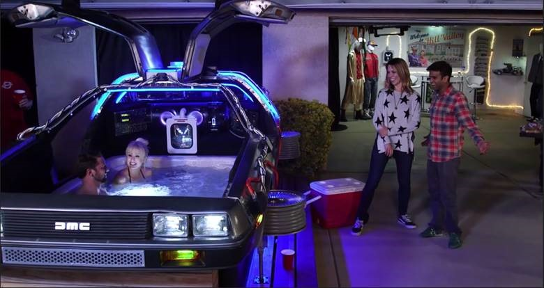 The DeLorean Hot Tub Time Machine