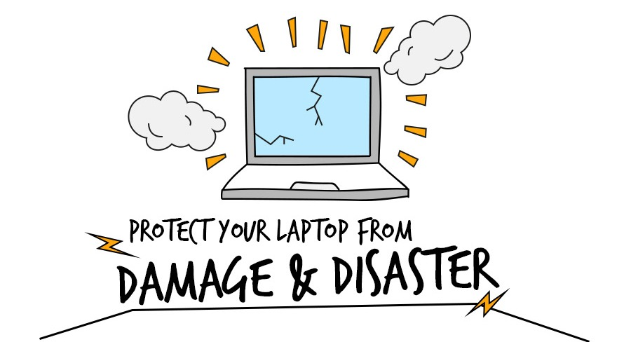 Protect Your Laptop from Damage Disaster Infographic