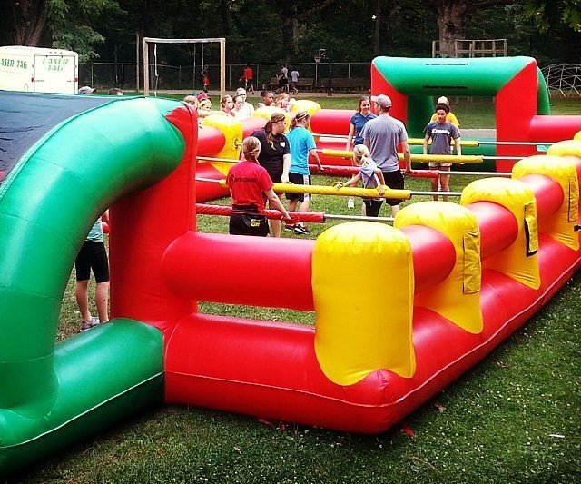 Life Size Inflatable Foosball Arena