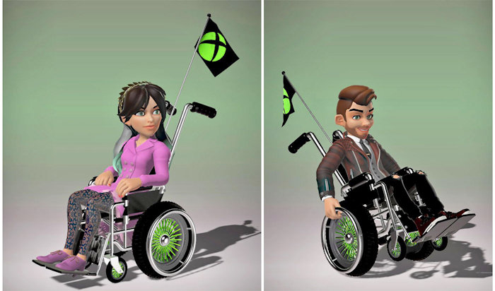 Xbox Wheelchair Avatars