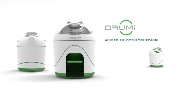 Drumi, A Foot-Powered Washing Machine