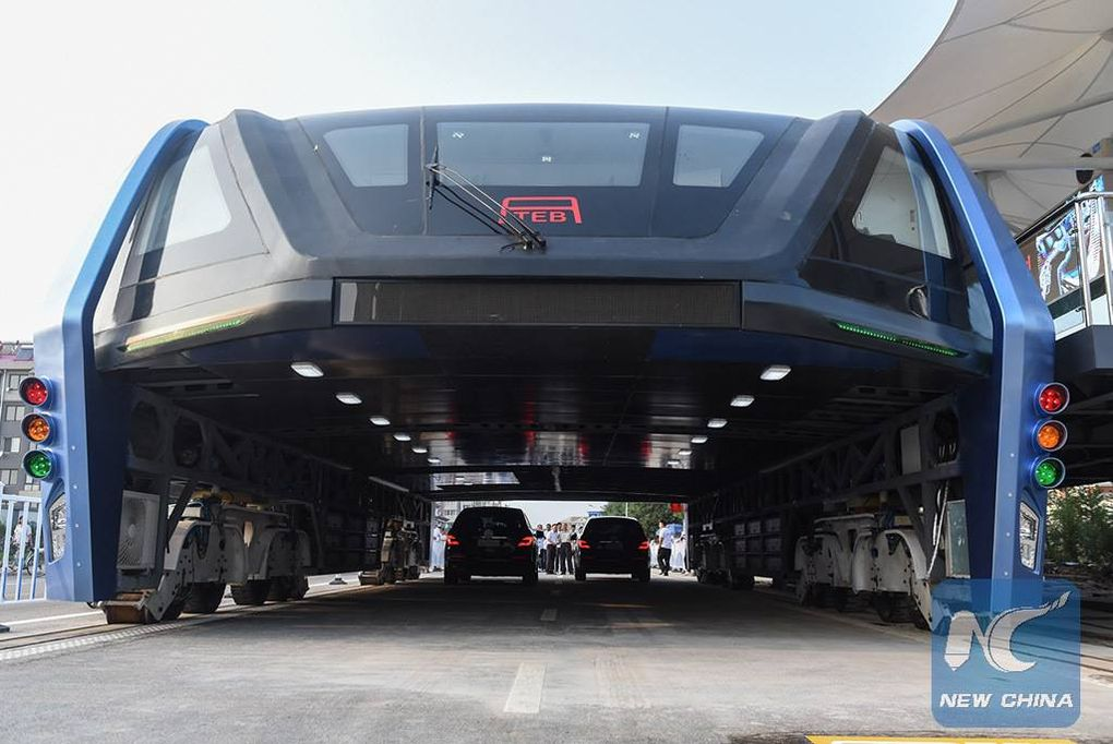 China Actually Built An Elevated Bus