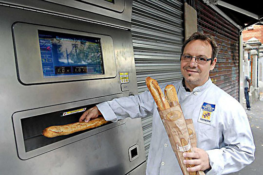 Fresh Baguettes Vending Machine