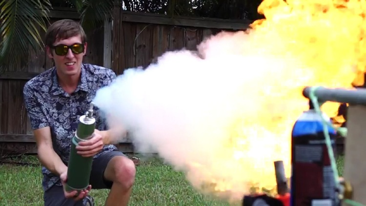 Homemade Flamethrower Take on a Homemade Freeze Ray