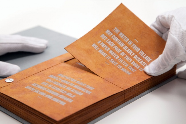 The Book that filters water