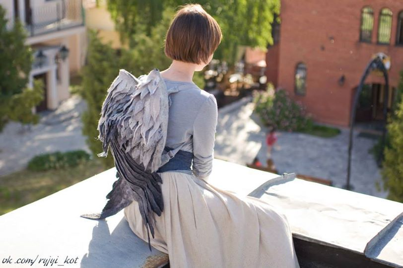 Gorgeous Realistic Handmade Bird Wing Backpacks
