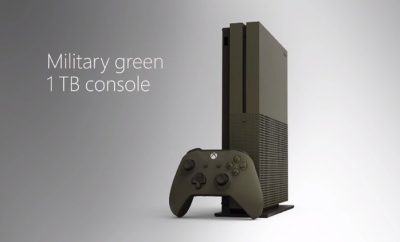 Xbox One S Military Green Special Edition For BATTLEFIELD 1
