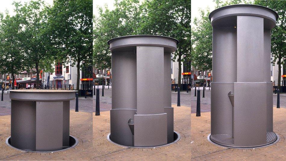 First Pop-up Urinals