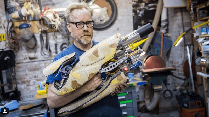 Adam Savage Built Replica of the Zorg ZF-1 Pod Weapon From The Fifth Element