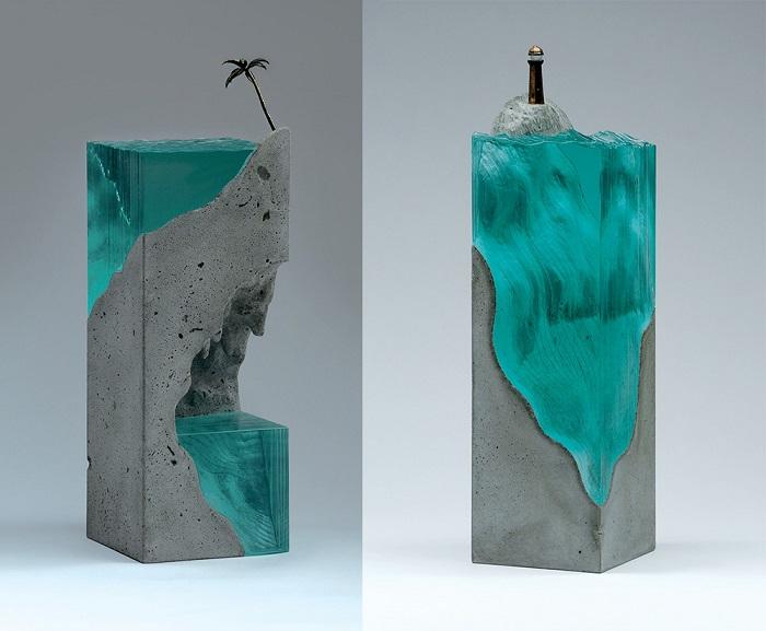 Layered Glass Sculptures