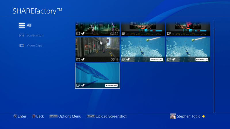 GIFs On The PS4