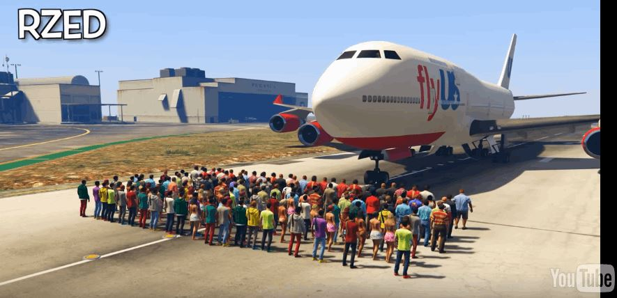 People Stop The Plane In _GTA 5
