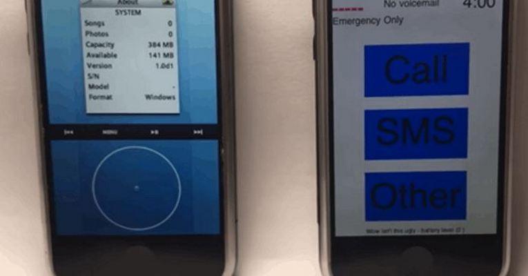 iPod-Like iPhone Prototype iOS
