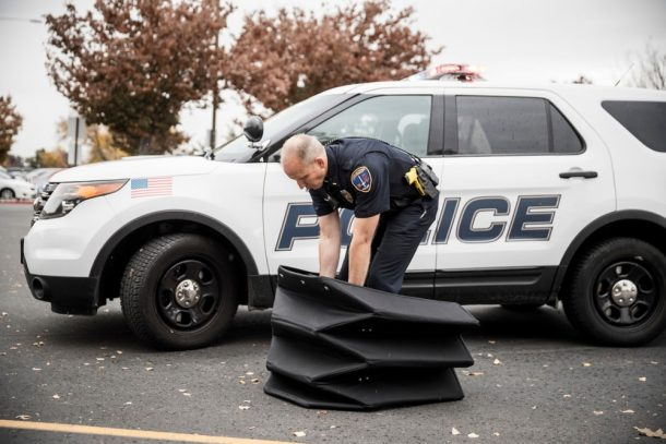 Origami-Shaped Bulletproof Shield