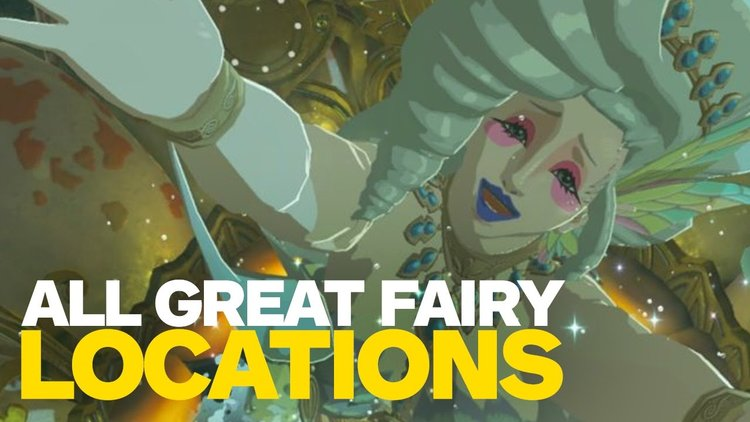 All Great Fairies Locations In LEGEND OF ZELDA: BREATH OF THE WILD