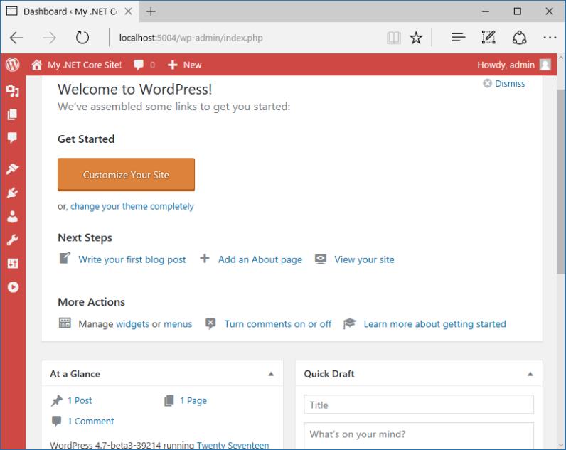 WordPress on .Net