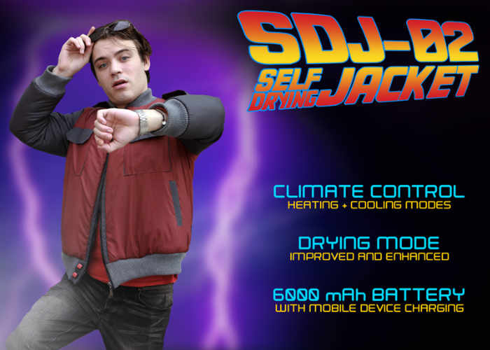 Back To The Future Inspired Self Drying Jacket