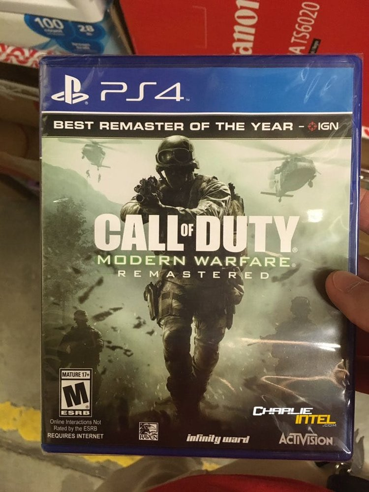 MODERN WARFARE REMASTERED