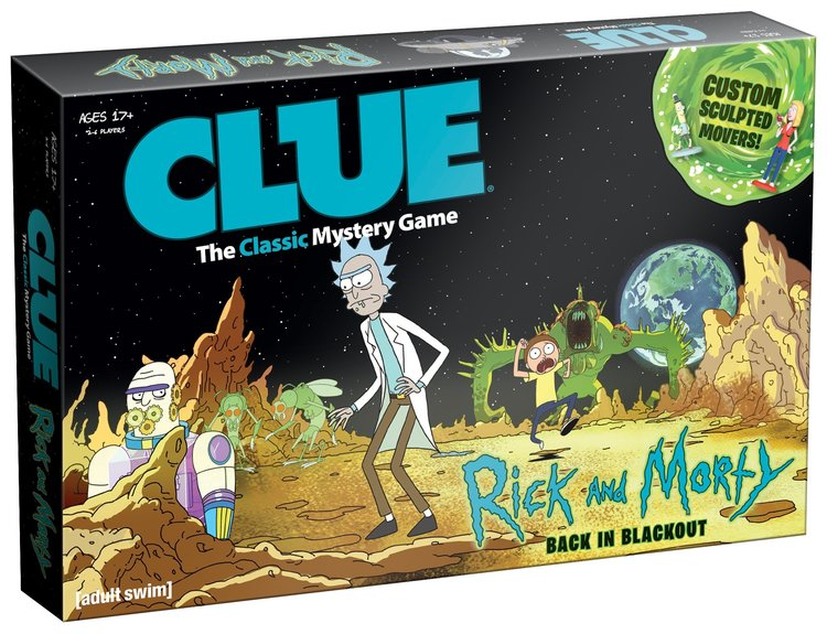 RICK AND MORTY-Themed CLUE Game