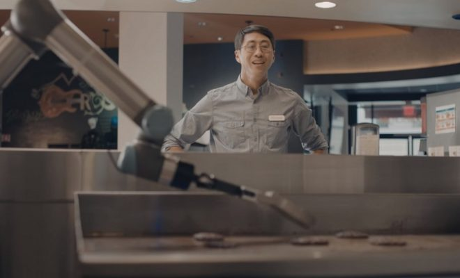 Burger Flipping Robot