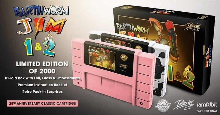 Earthworm Jim Collectors SNES Cartridge