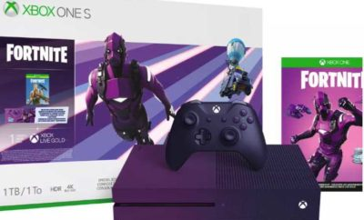 Purple Fortnite Xbox One S