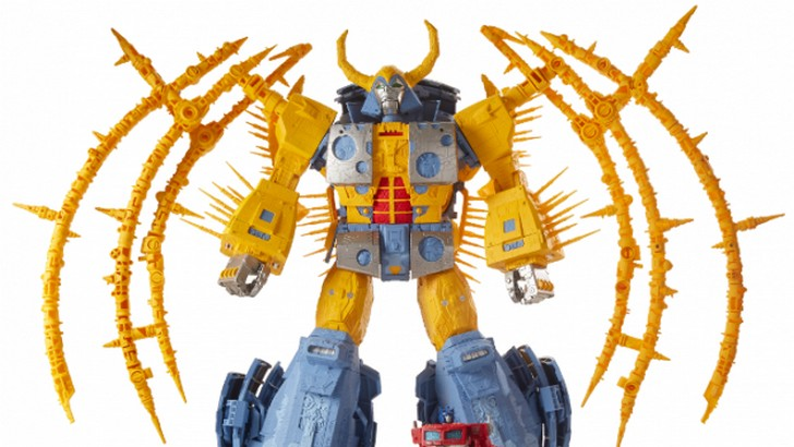 Hasbro's Unicron SDCC Transformer Toy