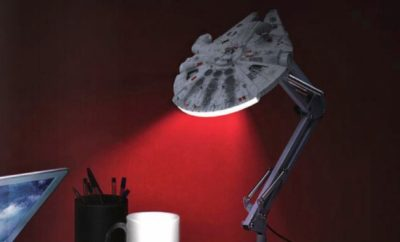 Star Wars Millennium Falcon and Tie Fighter Desk Lamps